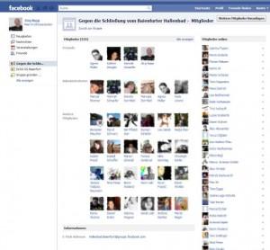 Screenshot Facebook-Gruppe (anonymisiert)