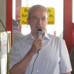 Bürgermeister Robert Wiedemann, Schirmherr des Sponsorenschwimmens
