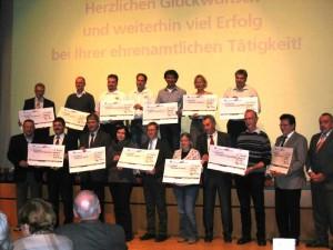 Preisträger bei der Kunden- und Mitgliederveranstaltung der Volksbank Weingarten am 21.11.11